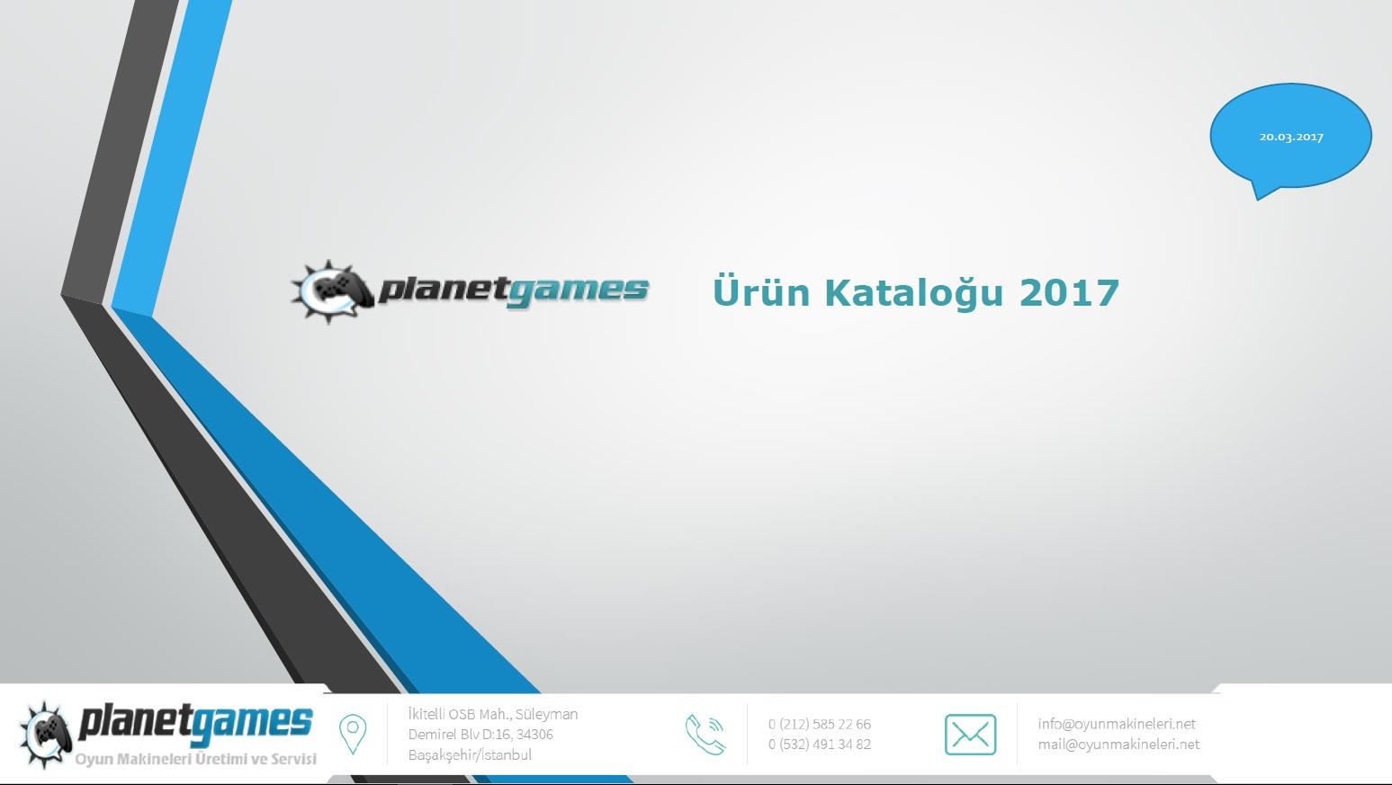oyun makineleri 2017 katalog